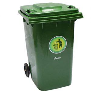 Plastic Dustbin Green