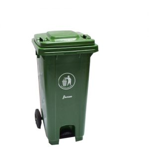Dustbin with Pedal Green