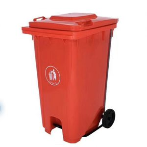 RED Dustbin with Pedal
