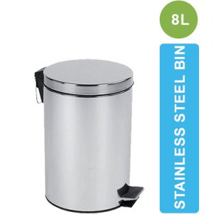 ASD-05-8L Stainless Steel Dustbin with Pedal