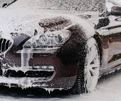 Car Washing With Car Wash Shampoo